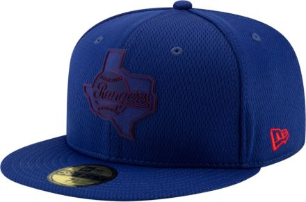 4ac0c07d5e3 New Era Men  39 s Texas Rangers 59Fifty Clubhouse Royal Fitted Hat