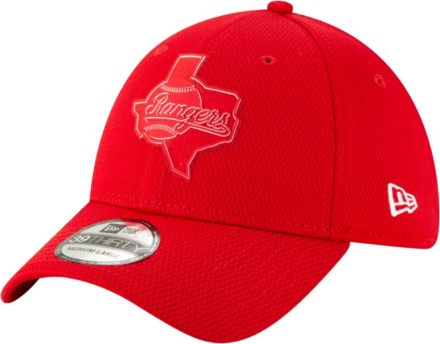 1bca2fcf31e New Era Men  39 s Texas Rangers 39Thirty Clubhouse Red Stretch Fit Hat