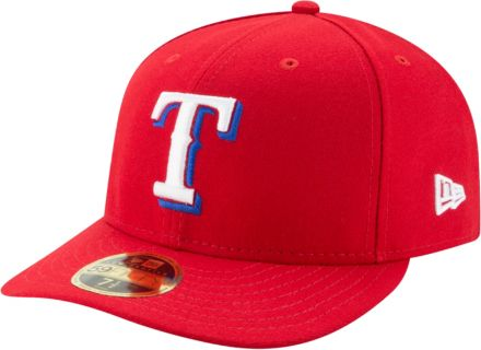 the latest 8bff4 77ffd New Era Men  39 s Texas Rangers 59Fifty Alternate Red Low Crown Fitted Hat