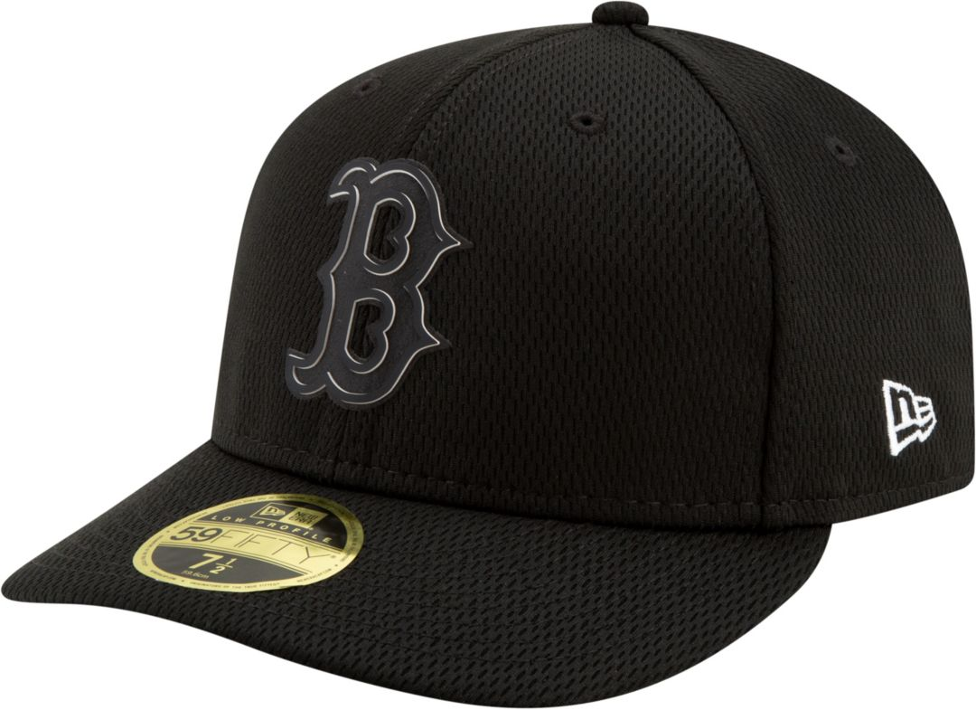 32bdf3760 New Era Men's Boston Red Sox 59Fifty Clubhouse Black Fitted Hat