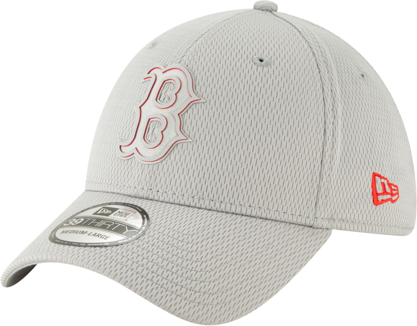 New Era Men's Boston Red Sox 39Thirty Clubhouse Grey Stretch Fit Hat