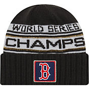 New Era Men's 2018 World Series Champions Locker Room Boston Red Sox Knit Hat