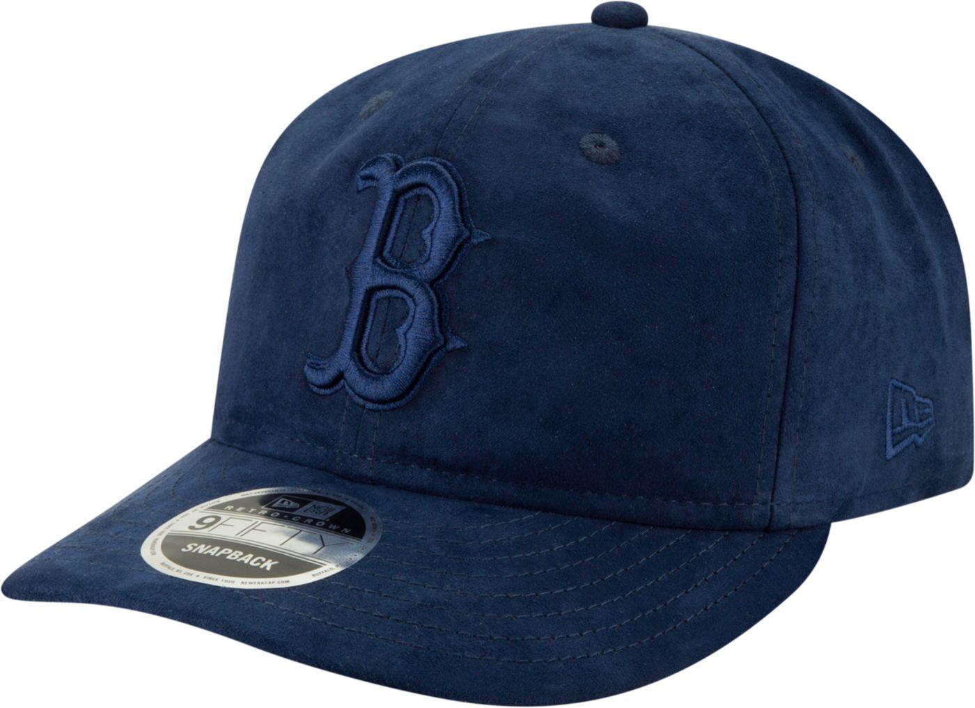 New Era Men's Boston Red Sox 9Fifty Suede Retro Navy Adjustable Snapback Hat