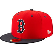 New Era Men's Boston Red Sox 59Fifty HexTech Batting Practice Fitted Hat