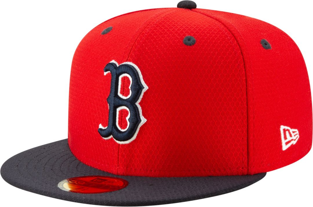 31d909ccb New Era Men's Boston Red Sox 59Fifty HexTech Batting Practice Fitted Hat