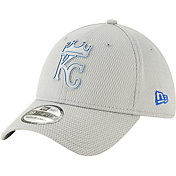 New Era Men's Kansas City Royals 39Thirty Clubhouse Grey Stretch Fit Hat