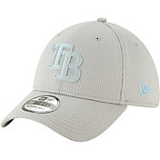 New Era Men's Tampa Bay Rays 39Thirty Clubhouse Grey Stretch Fit Hat