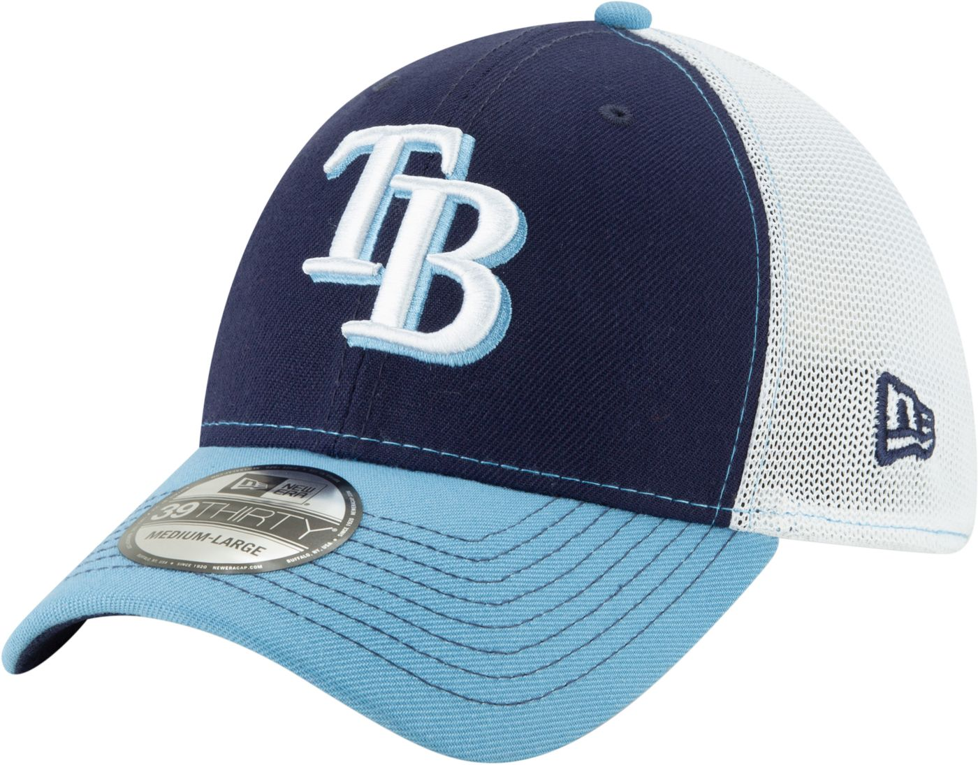 New Era Men's Tampa Bay Rays 39Thirty Practice Piece Stretch Fit Hat