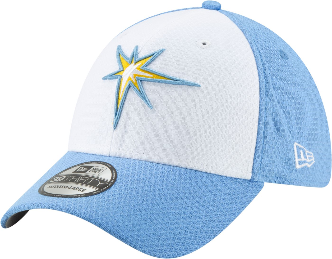 New Era Men's Tampa Bay Rays 39Thirty HexTech Batting Practice Stretch Fit Hat