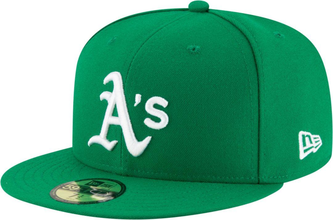 3250d85c34b0 New Era Men's Oakland Athletics 59Fifty Alternate Green Authentic Hat