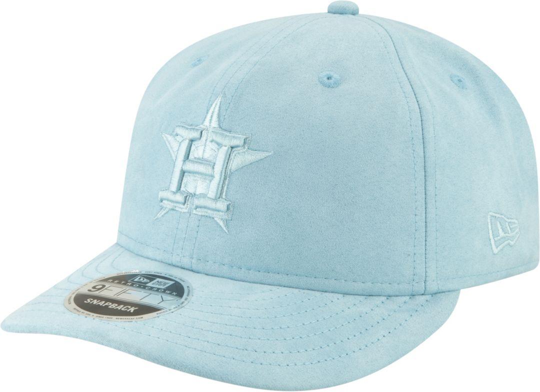 420ef061 New Era Men's Houston Astros 9Fifty Suede Retro Blue Adjustable Snapback Hat