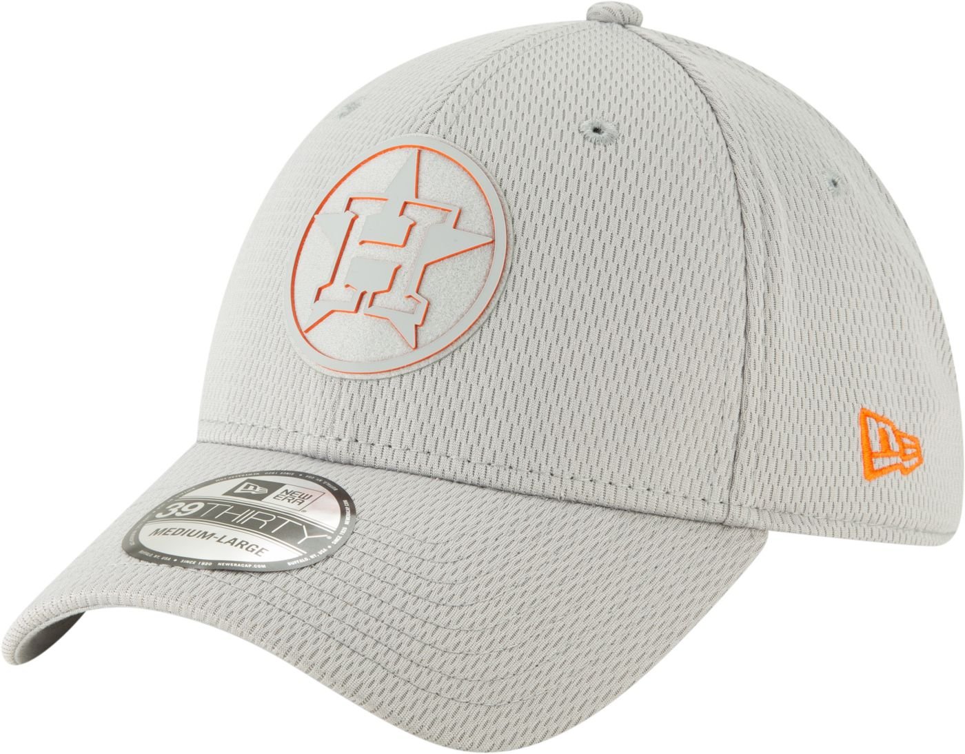 New Era Men's Houston Astros 39Thirty Clubhouse Grey Stretch Fit Hat
