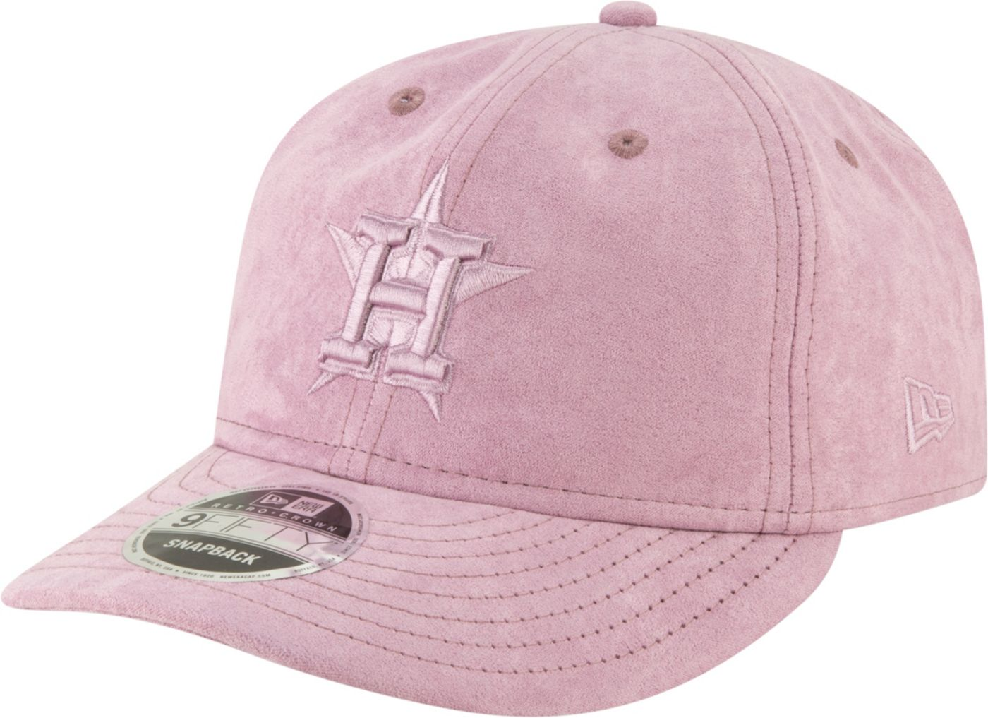 New Era Men's Houston Astros 9Fifty Suede Retro Pink Adjustable Snapback Hat