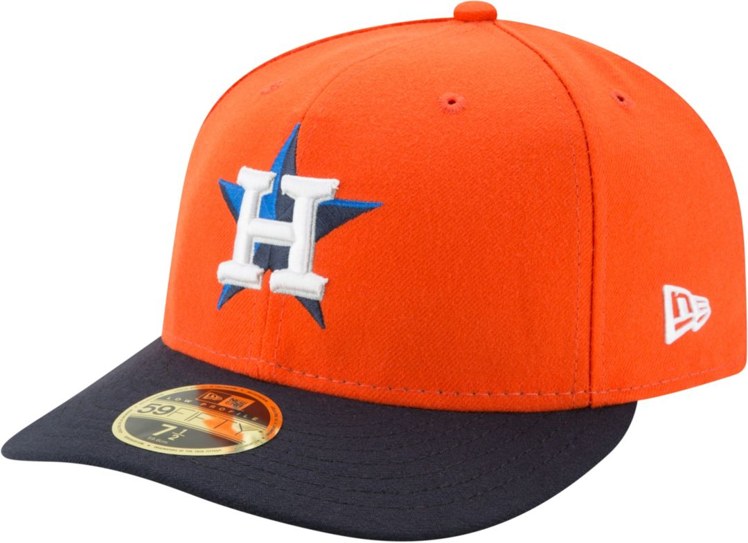 ab7f0eeb New Era Men's Houston Astros 59Fifty Alternate Orange Low Crown Fitted Hat