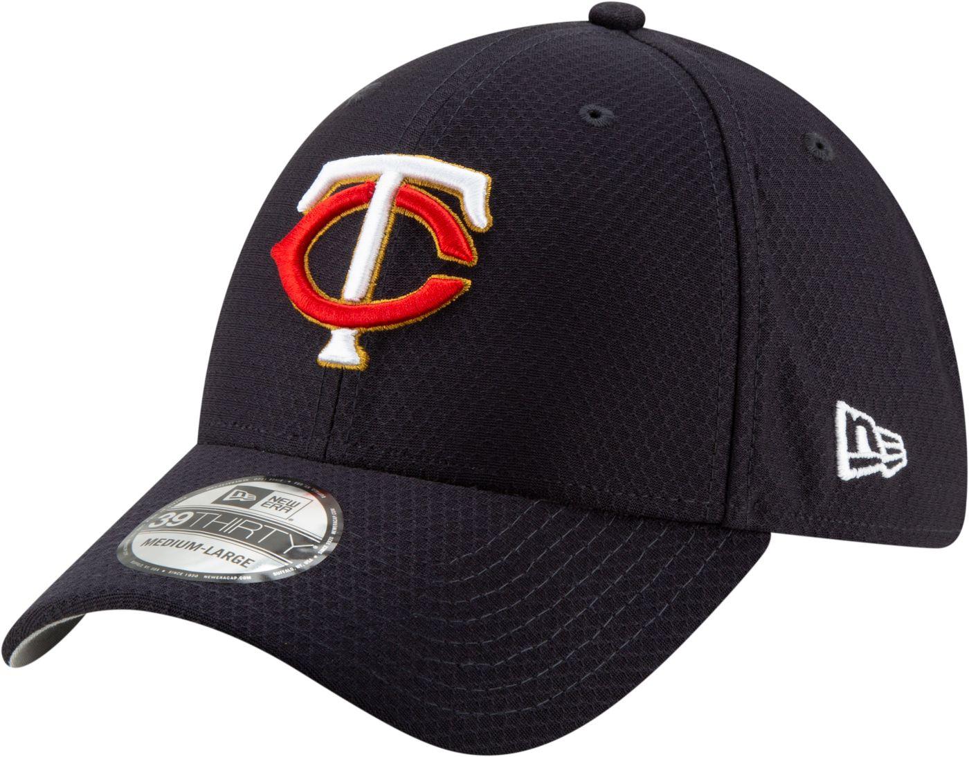 New Era Men's Minnesota Twins 39Thirty HexTech Batting Practice Stretch Fit Hat