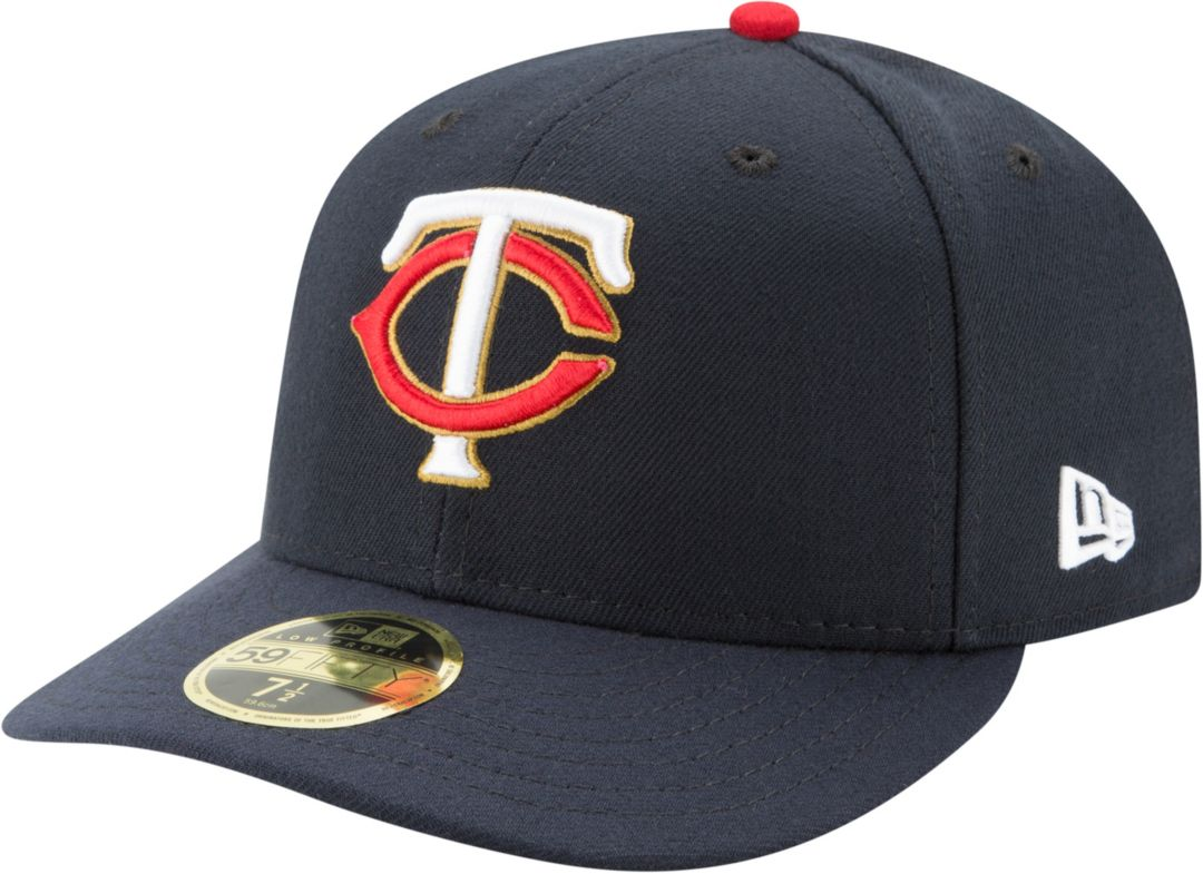 buy popular b7ba4 ebe78 New Era Men s Minnesota Twins 59Fifty Alternate Navy Low Crown Fitted Hat 1