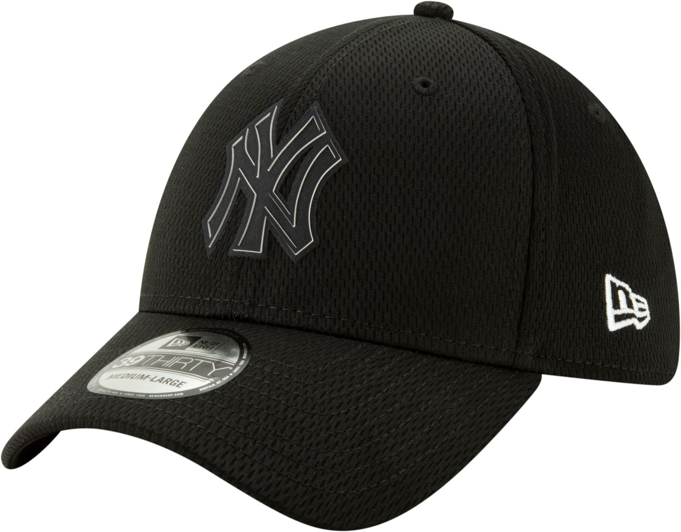 New Era Men's New York Yankees 39Thirty Clubhouse Black Stretch Fit Hat