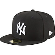 New Era Men's New York Yankees 59Fifty Basic Black/White Fitted Hat