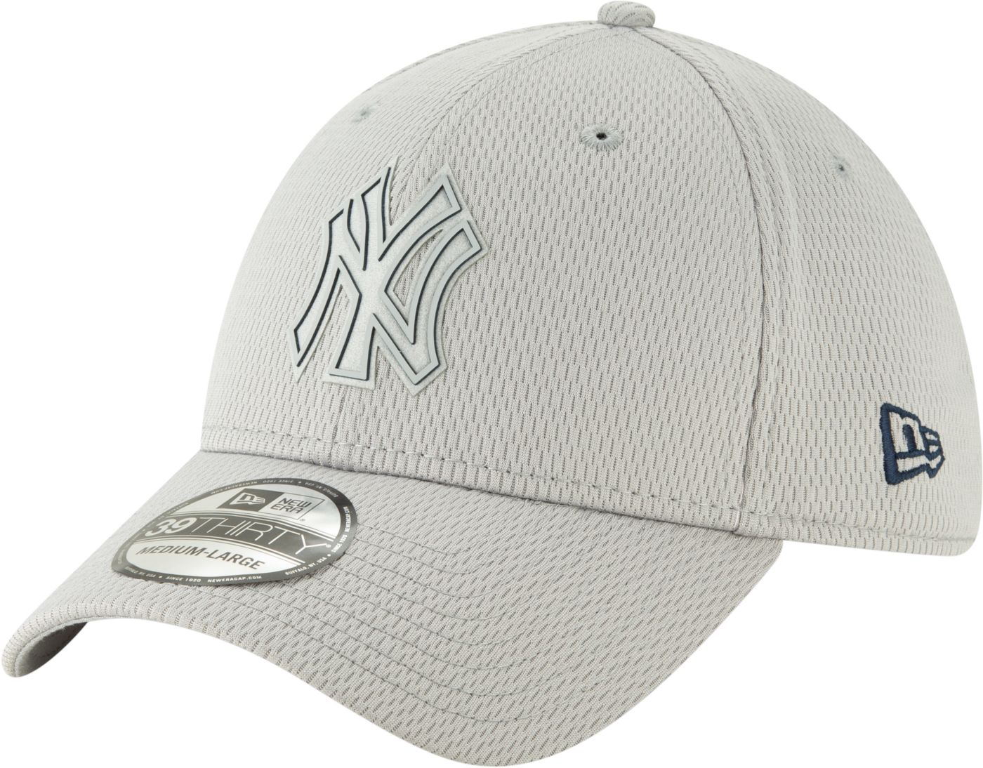 New Era Men's New York Yankees 39Thirty Clubhouse Grey Stretch Fit Hat