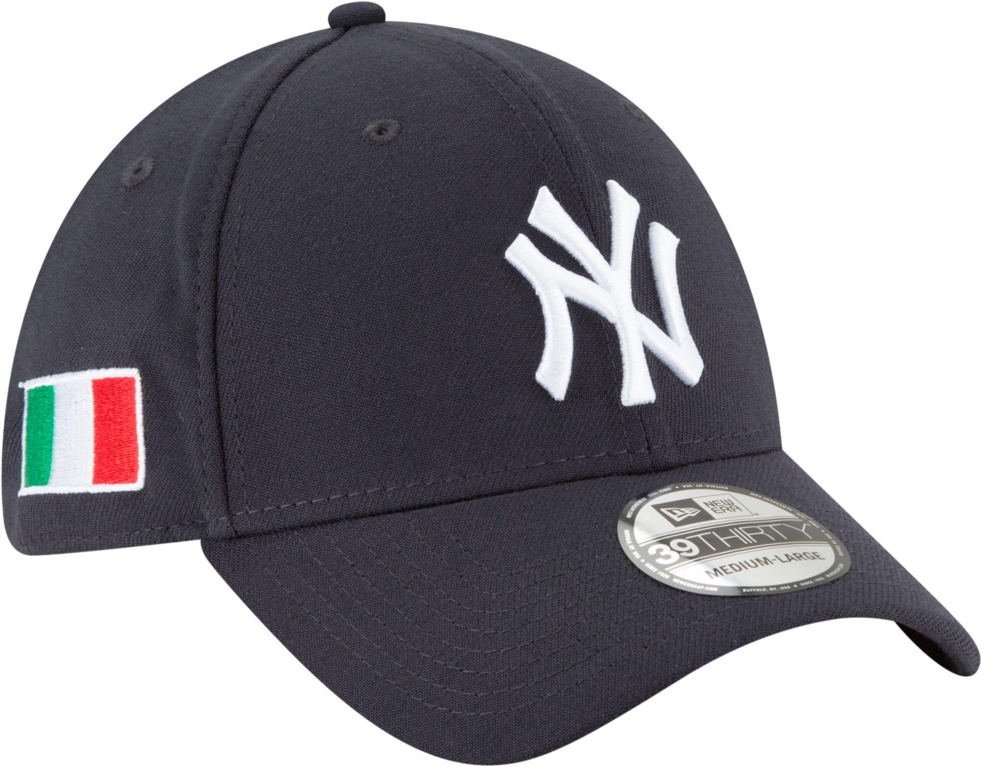 ... italy new era mens new york yankees 39thirty stretch fit hat w italian  flag patch 2cec5 1c1f67353eba