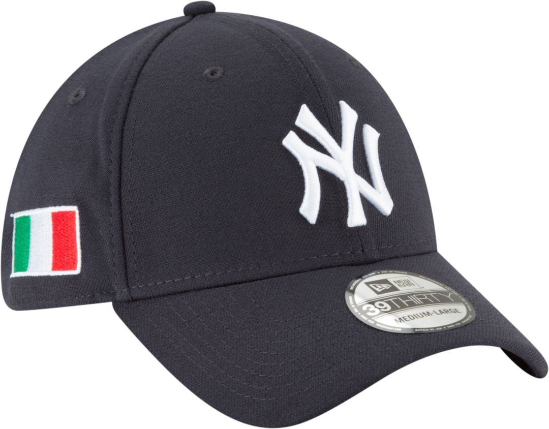 e48c3d483 New Era Men's New York Yankees 39Thirty Stretch Fit Hat w/ Italian Flag  Patch