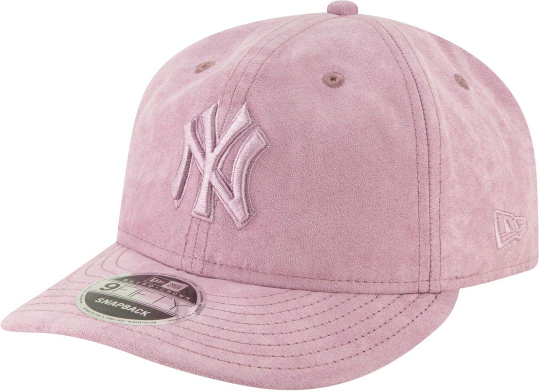 f9e3933c New Era Men's New York Yankees 9Fifty Suede Retro Pink Adjustable Snapback  Hat