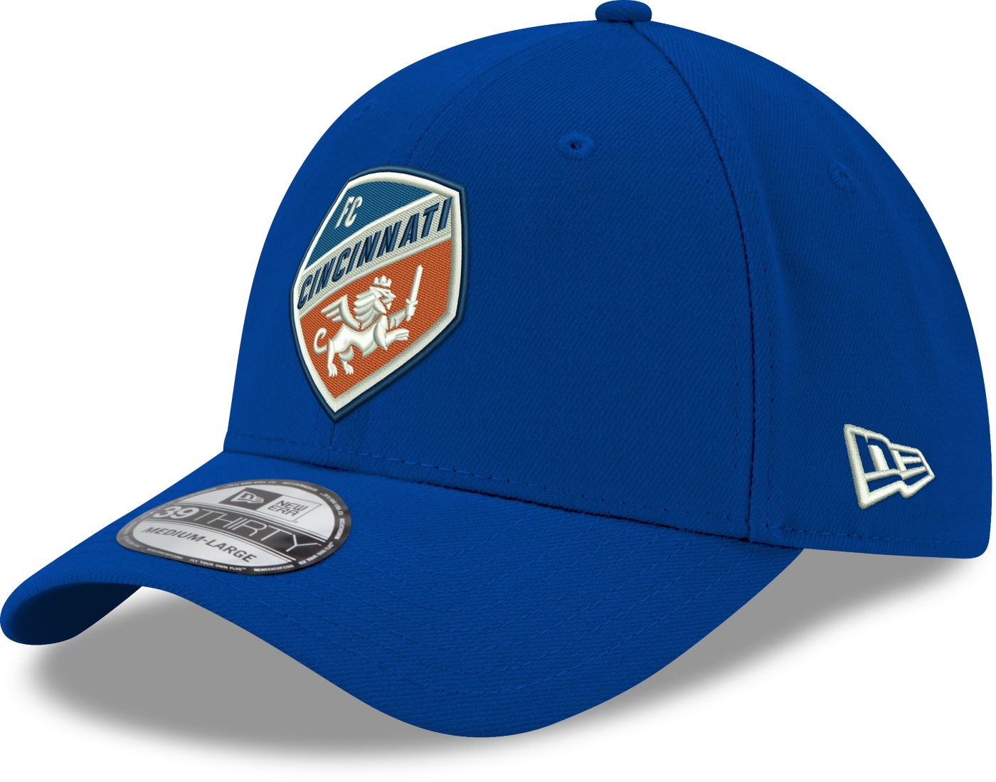 New Era Men's FC Cincinnati 39Thirty Logo Blue Stretch Fit Hat