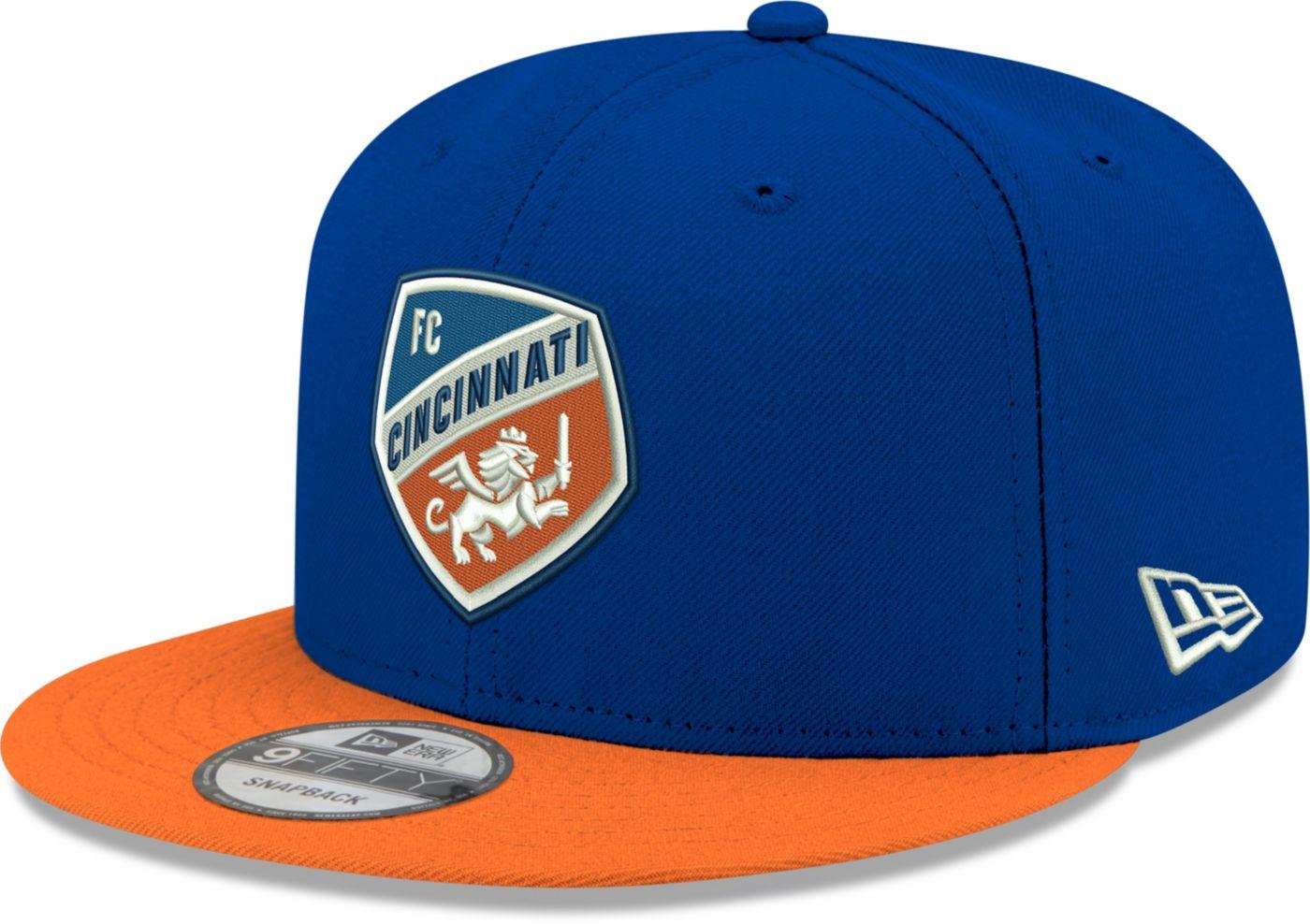 New Era Men's FC Cincinnati 9Fifty Logo Blue Snapback Adjustable Hat