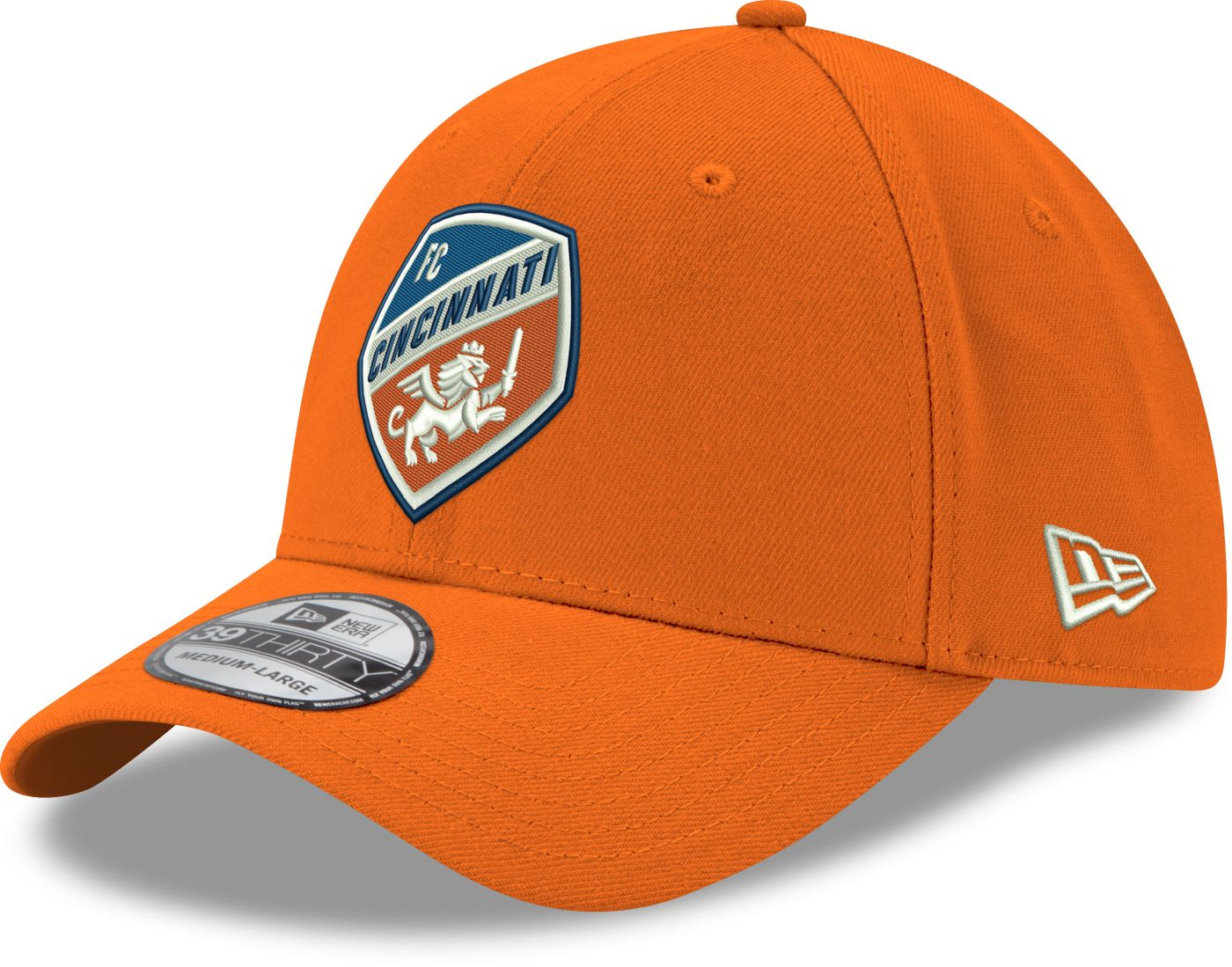 New Era Men's FC Cincinnati 39Thirty Logo Orange Stretch Fit Hat