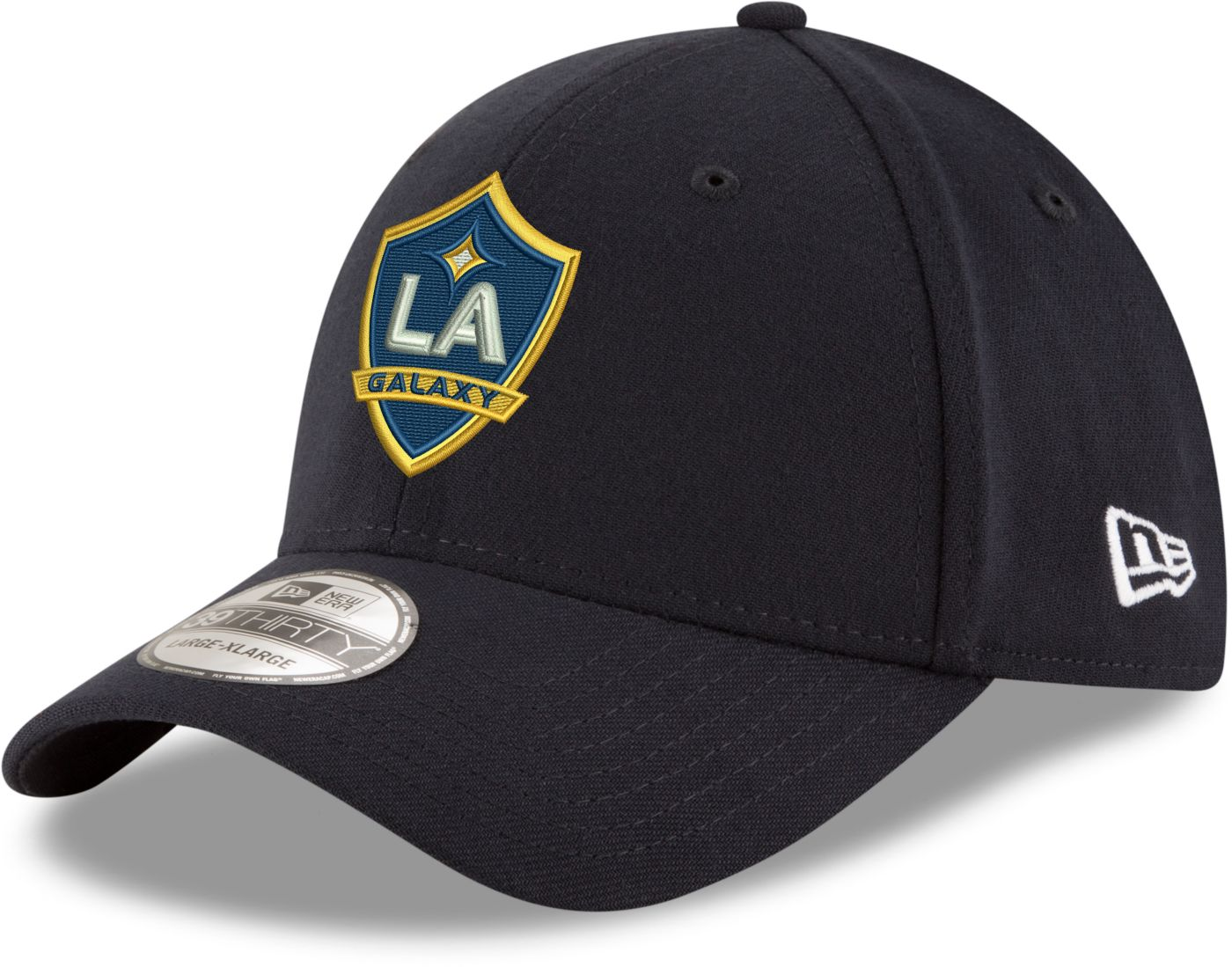 New Era Men's Los Angeles Galaxy 39Thirty Navy Flex Hat