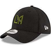 New Era Men's Los Angeles FC 39Thirty Black Flex Hat