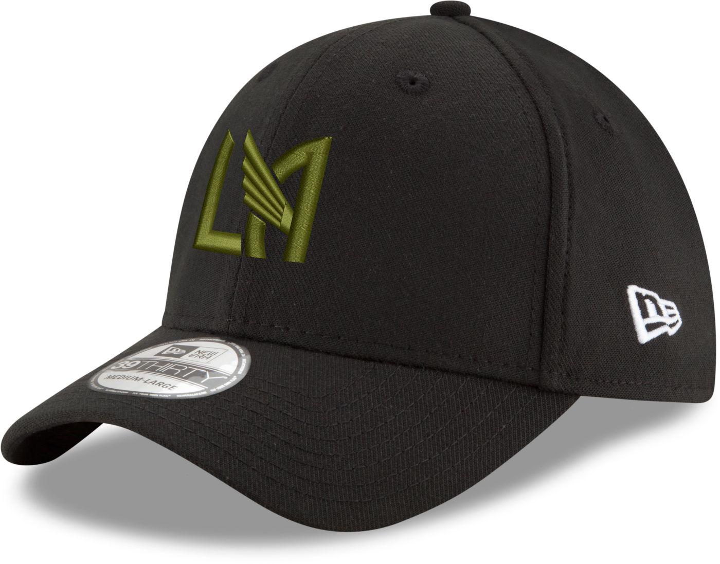 New Era Men's Los Angeles FC 39Thirty Black Flex Hat