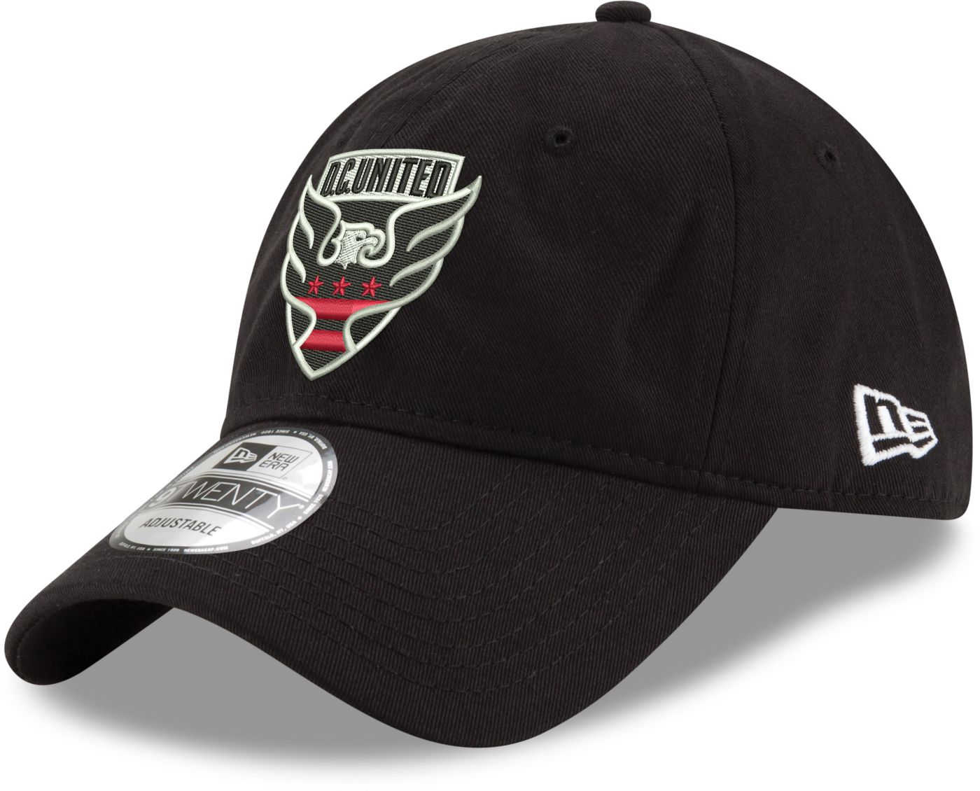 New Era Men's D.C. United 9Twenty Black Adjustable Hat