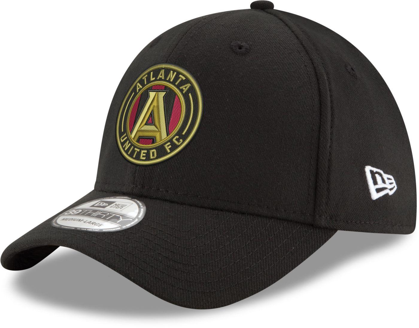 New Era Men's Atlanta United 39Thirty Black Flex Hat