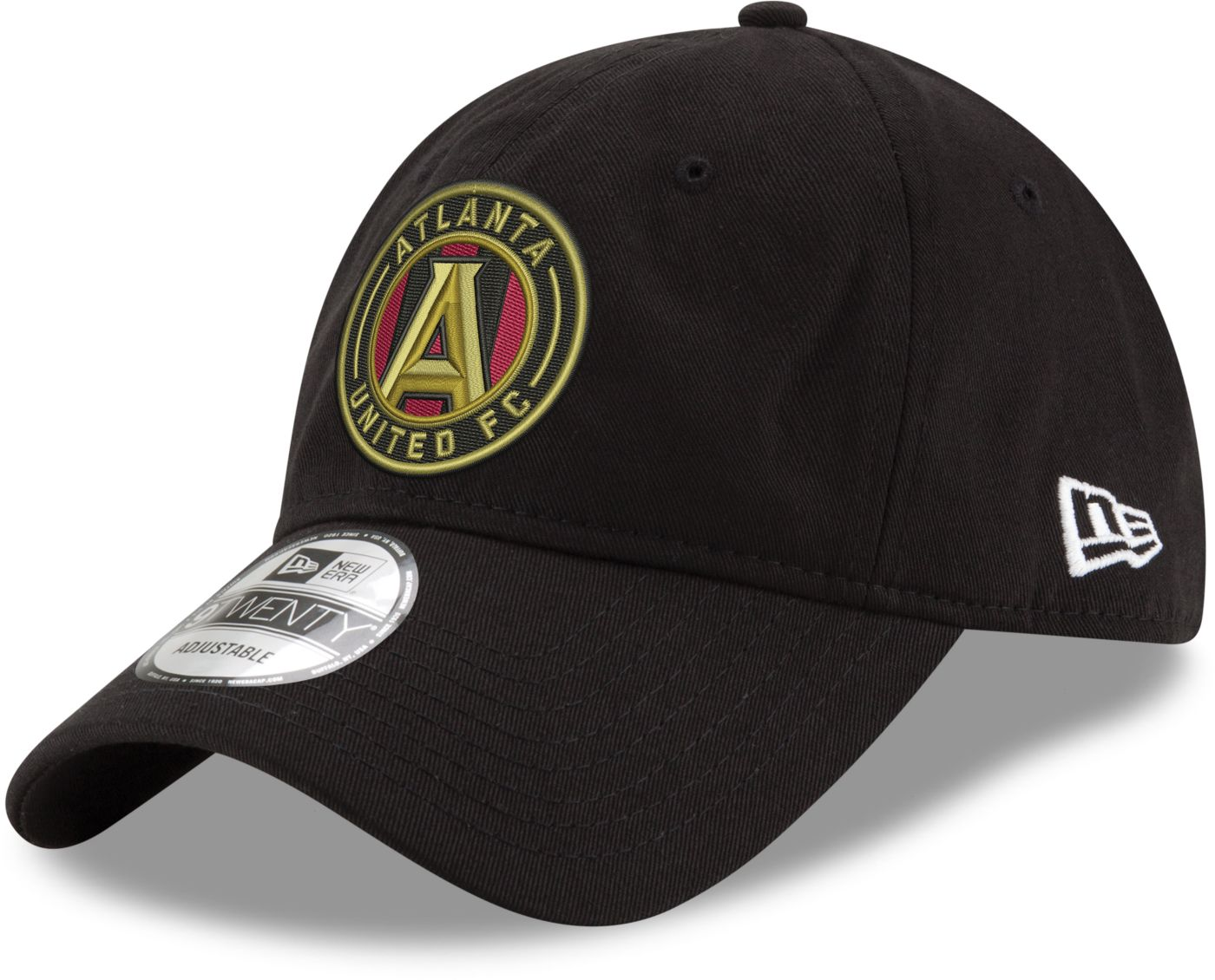 New Era Men's Atlanta United 9Twenty Black Adjustable Hat
