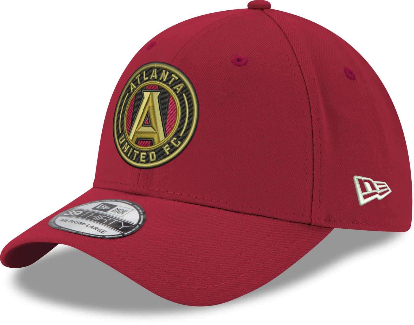 New Era Men's Atlanta United 39Thirty Red Flex Hat