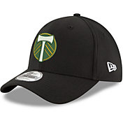 New Era Men's Portland Timbers 39Thirty Black Flex Hat