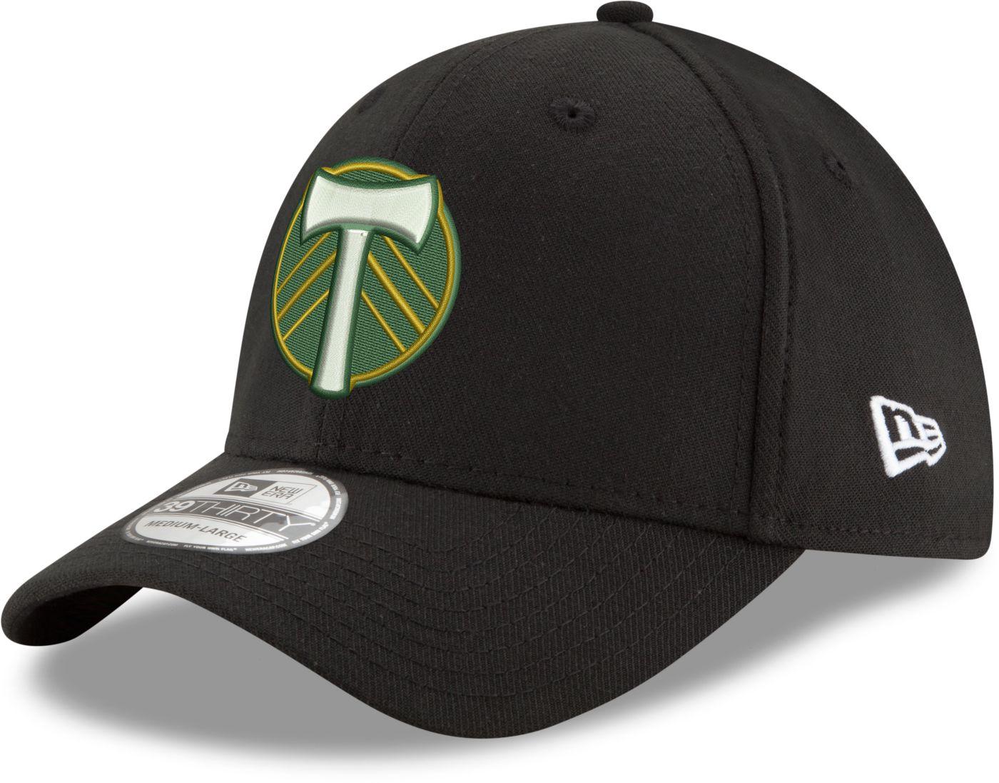 New Era Men's Portland Timbers 39Thirty Black Flex Hat