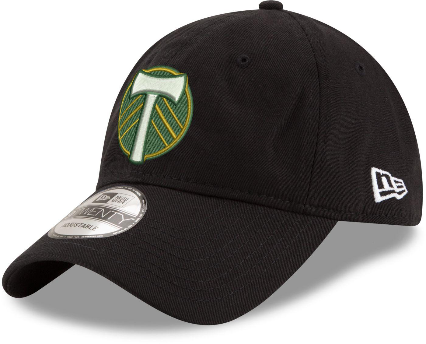 New Era Men's Portland Timbers 9Twenty Black Adjustable Hat