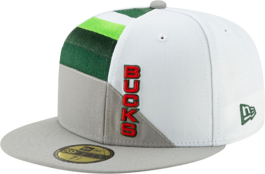 1336a432dfec5f New Era Men's Milwaukee Bucks 59Fifty Earned Edition Fitted Hat ...