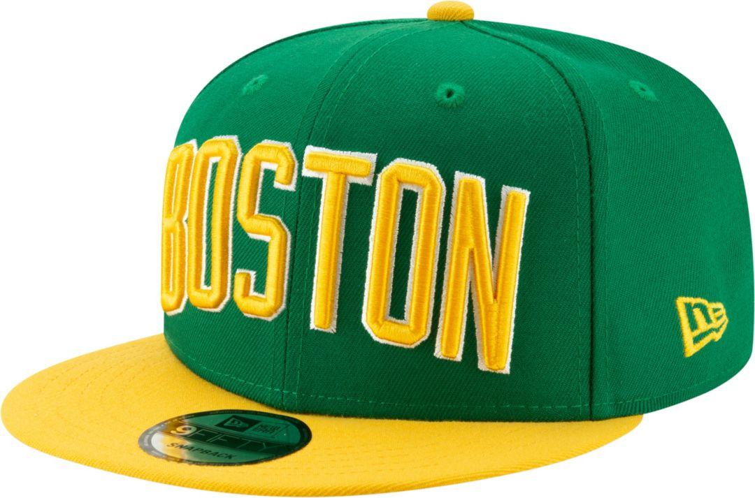 reputable site 5c458 d424a New Era Men's Boston Celtics 9Fifty Earned Edition Adjustable Snapback Hat