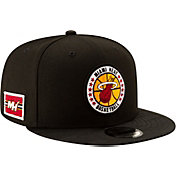 New Era Men's Miami Heat 9Fifty On-Court Adjustable Snapback Hat