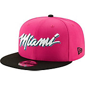 New Era Men's Miami Heat 9Fifty Earned Edition Adjustable Snapback Hat