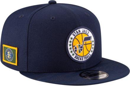 best sneakers 6add2 88294 New Era Men  39 s Utah Jazz 9Fifty On-Court Adjustable Snapback Hat