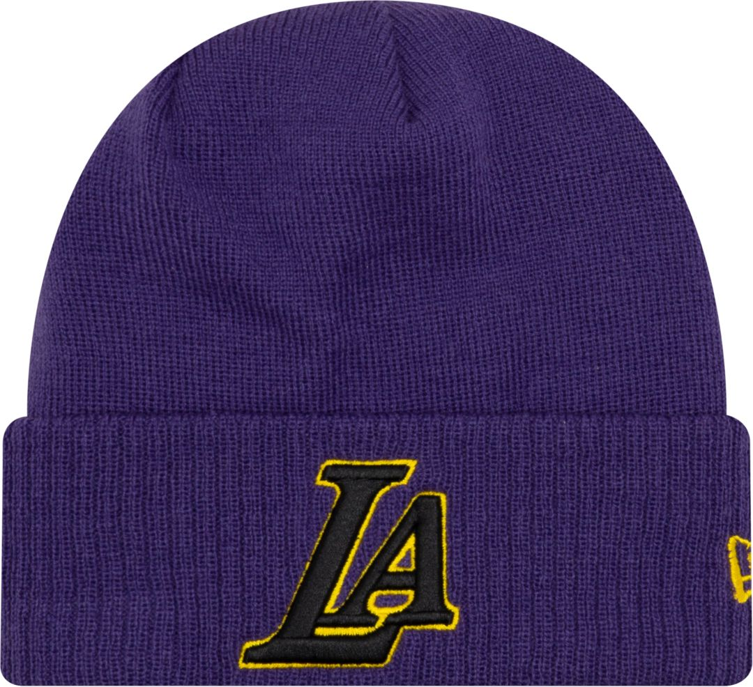 67e68228045885 New Era Men's Los Angeles Lakers City Edition Knit Hat | DICK'S ...