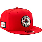 New Era Men's Houston Rockets 9Fifty On-Court Adjustable Snapback Hat