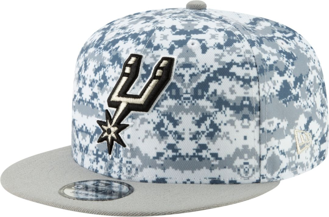 6eda73f8 New Era Men's San Antonio Spurs 9Fifty Earned Edition Adjustable Snapback  Hat 1