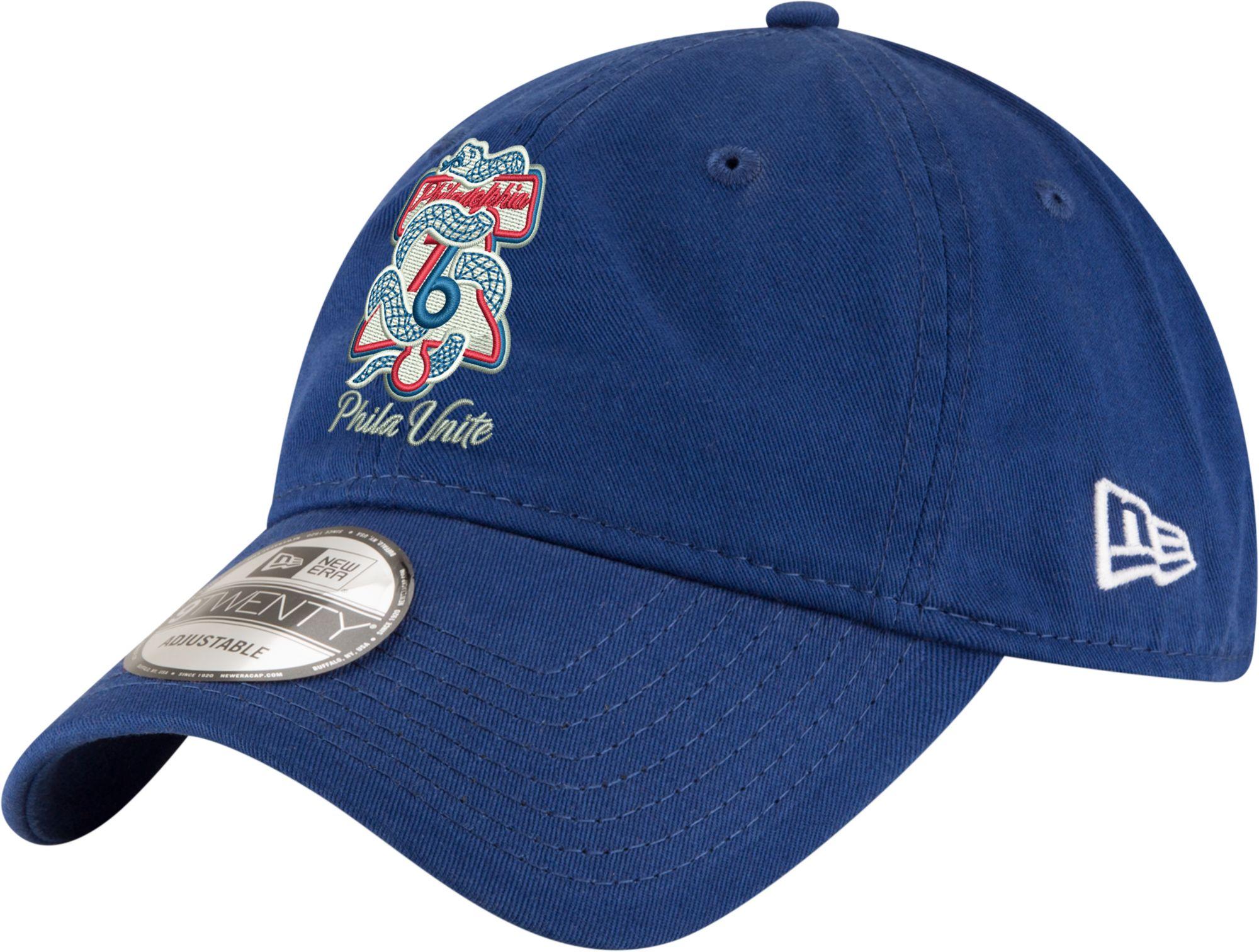 b71fc7cc1c3dc ... new style new era mens philadelphia 76ers 9twenty phila unite royal  adjustable hat 3987e d09b0