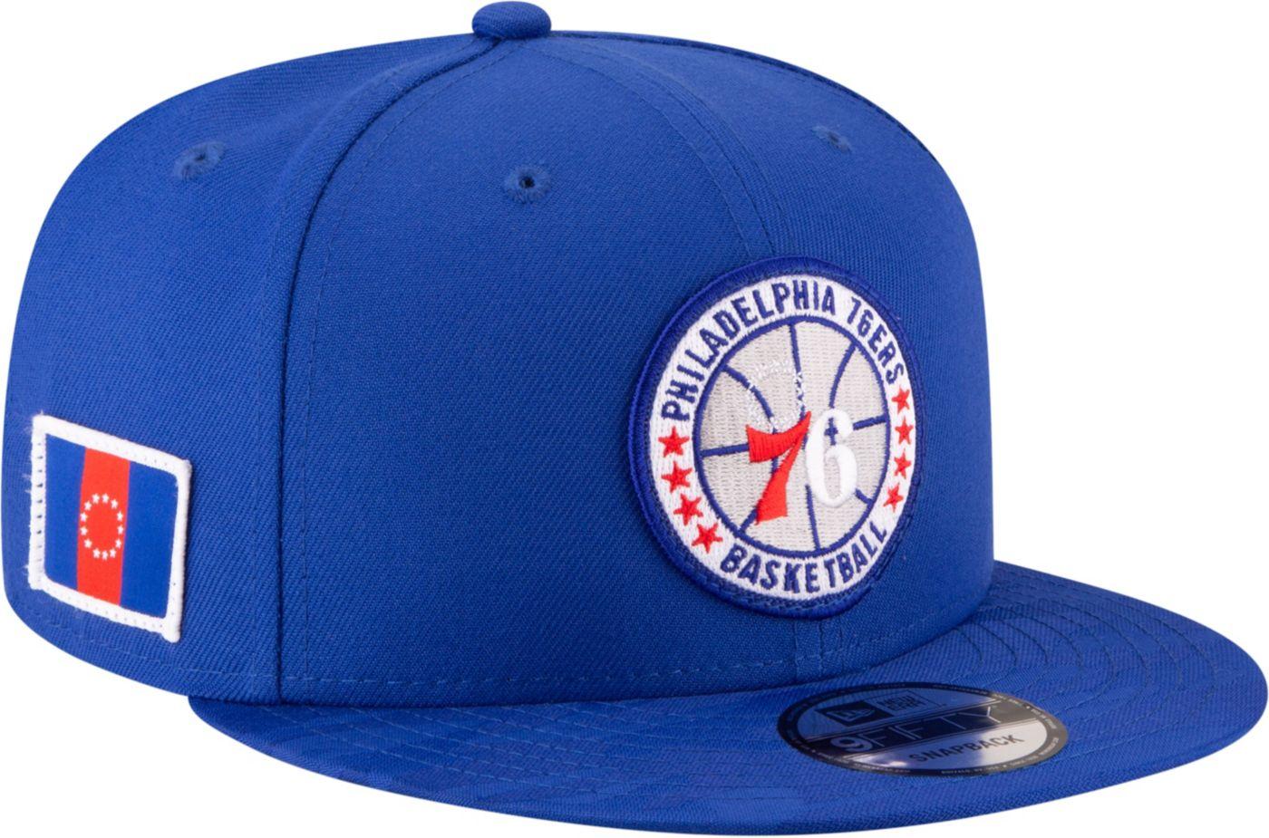 New Era Men's Philadelphia 76ers 9Fifty On-Court Adjustable Snapback Hat