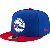 New Era Men's Philadelpia 76ers 59Fifty Royal/Red Fitted Hat